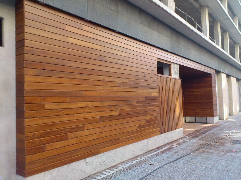 Revestimientos y cerramientos exteriores carpinter a Revestimiento de madera para muros interiores